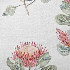 Protea floral spring fabric from hertex fabrics