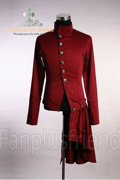 FanPlusFriend - Elegant Gothic Aristocrat Goth Punk Pleated Skirt Thick Cotton…