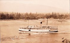 SS Charmer in the First Narrows off Vancouver, B. Canadian Pacific Railway, Boat Plans, Photo Postcards, West Coast, Sailing Ships, Vancouver, Coastal, Princess, History