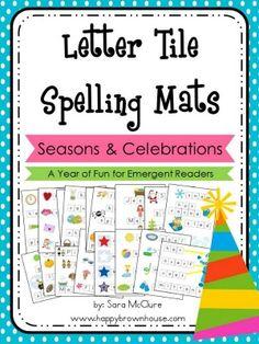 Letter Tile Spelling Mats Bundle (Seasons-Holidays)