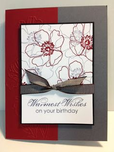 Fabulous Florets Birthday Card Quick and simple card to make Stampin' Up! Rubber Stamping