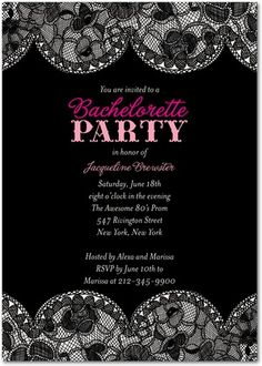 Cute Bachelorette Invitation. I love this website with all of the cute invites to choose from.