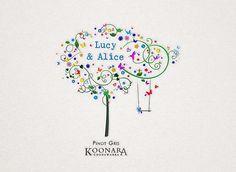 Wine label design for Koonara - premium wine company in Coonawarra, South Australia.