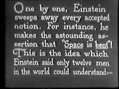 Einstein's Theory of Relativity (Max Fleischer, 1923)
