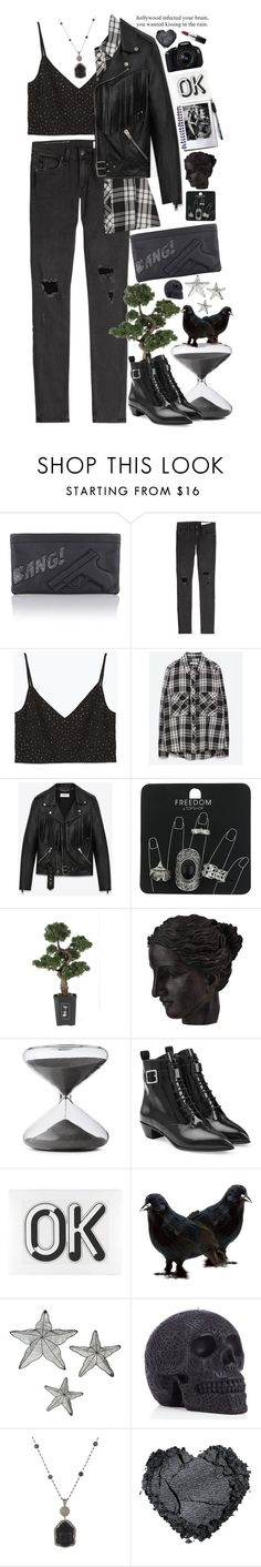 """""""Bad Blood"""" by doga1 ❤ liked on Polyvore featuring rag & bone, Zara, Yves Saint Laurent, Topshop, Nearly Natural, Ren-Wil, Timing, Marc by Marc Jacobs, Burton and Eos"""