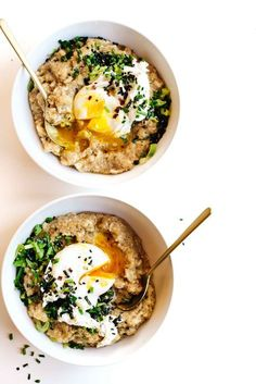 MISO OATS WITH SCALLIONS + SESAME OIL FROM MORE WITH LESS. | Kale and Caramel