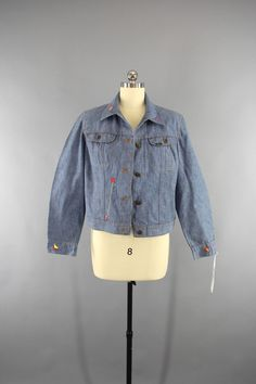 1970s Vintage LEE Embroidered Denim Jacket