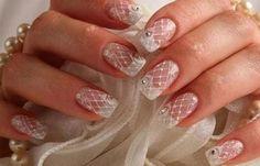 Diseños uñas para novias, diseño de uñas para novias de gel. #uñasdemoda #3dnailart #uñassencillas