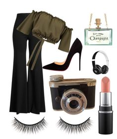 """""""Anything #12"""" by wildcat300 on Polyvore featuring Rosetta Getty, Christian Louboutin, Beats by Dr. Dre and Battington"""