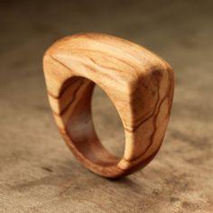Size 8.75 Bethlehem Olive Wood Ring No. 14 by IanGill on Etsy