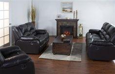 Arizona Chocolate Grain Leather Living Room Set