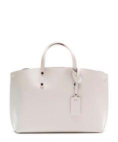 Beige leather wide tote bag Sale - Luisa Vannini Sale