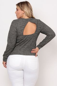 Plus Size French Terry Mesh Sweater - Dark Grey Plus Size Womens Clothing, Clothes For Women, Classy Girl, French Terry, White Jeans, Latest Trends, Curvy, Dark Grey, Sweaters