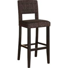 Linon Vega 30 in. Bar Stool - Myrtle Jet - 14054BRNTW01U