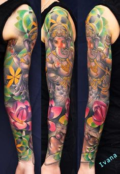 Tattoos - Ganesh & Lotuses & Mouse Dorotka