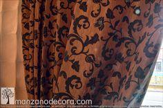 Detalle de Cortina de Ollaos http://www.manzanodecora.com/cortinas.html