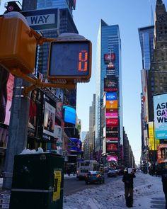 Times Square after Blizzard Jonas  #newyork #ny #timessquare #blizzard2016 #blizzardjonas #instagood #picoftheday #usa #instadaily by lanastevie