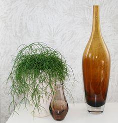 XL Vase, Murano, Rauchbraun, Sammler Glas
