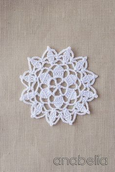 Crochet lace motif nr 6 by Anabelia.like to blend these into my handmade flowers. Crochet Doily Patterns, Crochet Chart, Crochet Squares, Thread Crochet, Crochet Designs, Crochet Doilies, Crochet Flowers, Crochet Stitches, Crochet Books