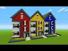 Minecraft Tutorial: How To Make A Modern Town House - Minecraft Shops, Modern Minecraft Houses, Minecraft City Buildings, Minecraft House Plans, Minecraft Mansion, Minecraft Room, Minecraft House Designs, Minecraft Architecture, Minecraft Blueprints