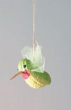 A Hummingbird made from a peanut.