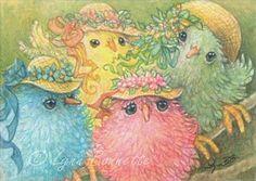Spring chickens. Lynn Bonnette