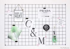 -DIY- Wire Memoboard / Grid Pinboard – Me-Melanie - Givoya Sites Memo Boards, Tumbler Room Decor, Wire Board, Teen Presents, Diy Crafts Knitting, Diy Crafts For Teen Girls, Diy Tumblr, Tumblr Rooms, Aesthetic Rooms