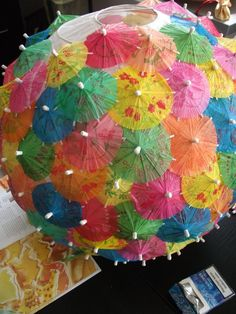 Nice idea to cover a paper lantern!