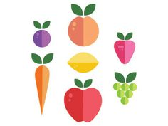 fruities 50 Inspirational Flat Icon Examples
