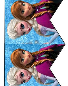 FREE Frozen Birthday Party cupcake toppers, banner, and water bottle label Printables