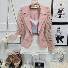 Women S Fashion Stores Queenstown Refferal: 4518118886 Classy Outfits, Outfits For Teens, Cool Outfits, Look Fashion, Girl Fashion, Fashion Outfits, Womens Fashion, Blazer And Shorts, Blazer Outfits