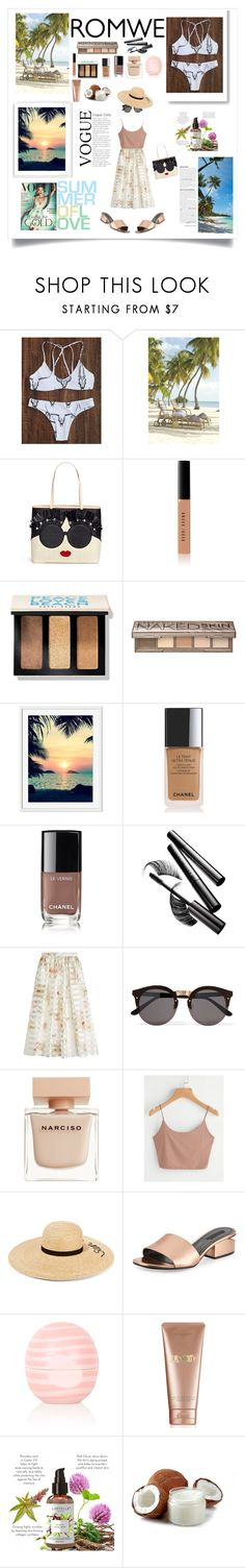 """""""#romwe"""" by irene-beatrice ❤ liked on Polyvore featuring Alice + Olivia, Bobbi Brown Cosmetics, Urban Decay, Chanel, Chantecaille, Fendi, Illesteva, Narciso Rodriguez, Eugenia Kim and Alexander Wang"""