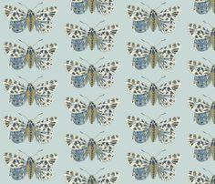 Small Tiger Moth Pearlwood fabric by gollybard on Spoonflower - custom fabric