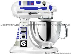 R2D2 Decal Kit for your KitchenAid Stand Mixer  por GoodMommyLtd