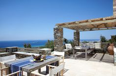 Diles & Rinies in Tinos Island, presents its collection of amazing private Villas with hotel services Hotel Services, Enjoy The Sunshine, Resort Villa, Fireplace Surrounds, Architectural Elements, Vacation Villas, Luxury Villa, Outdoor Living, Pergola