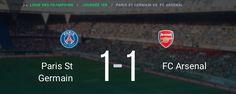 Arsenal repart du Parc des Princes après un match nul face au PSG et sur le score de 1-1. Les Canonniers en ont bavé mais ont réussi à gratter 1 point.