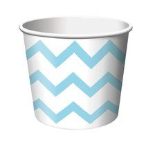 Pastel Blue Chevron Stripe Treat Cups (6 ct)