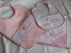 Set Anna <3 asciugamano, bavetta e bavaglino pappa <3