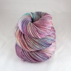 Hand Dyed Sock Yarn hand dyed wool variegated by JellybeansYarns