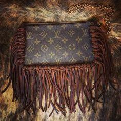 Authentic Fringe Louis Vuitton Wristlet