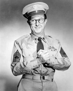 Mst.Sgt Bilko, played by Phil Silvers--except no imitations, not even Steve Martin.  I think my Dad (who was also a Master-Sergeant) was his biggest fan.