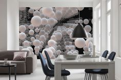 Fesselnd 3D Spherical. Moderne Wandgestaltung Mit Einer Fototapete ...