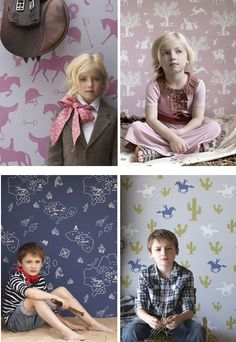childrens wallpaper from hibou home