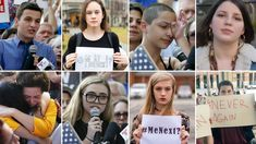 Collage of advocates and Parkland survivors in a collage image