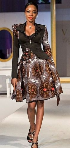#AfrikprintFashionista: Jacket maked from touch of print materials