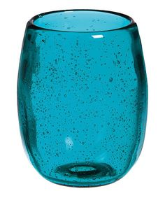 Another great find on #zulily! Teal Glass Stemless Wineglass - Set of Four by Cypress Home #zulilyfinds