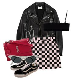 """Look:#560"" by dollarwomanlux ❤ liked on Polyvore featuring Yves Saint Laurent, Alexander Wang, Vans and Mystic Light"