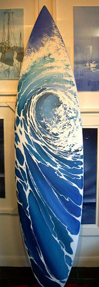 Showcase of surf art by Cornwall based British surf artist Lamorna Penrose on Club Of The Waves Decoration Surf, Surf Decor, Surfboard Painting, Surfboard Art, Skateboard Art, Deco Surf, Surf Hair, Surf Design, Cv Design