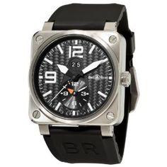 Bell & Ross Men's BR-03-51-GMT TITANIUM Aviation Black GMT Dial Watch Watch
