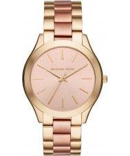 Ladies Michael Kors Ladies Slim Runway Gold and Rose Bracelet Watch 125.00 Watches2U
